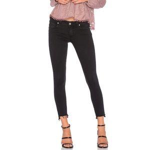 Verdugo Ankle Uneven Hem jeans Vintage Black PAIGE